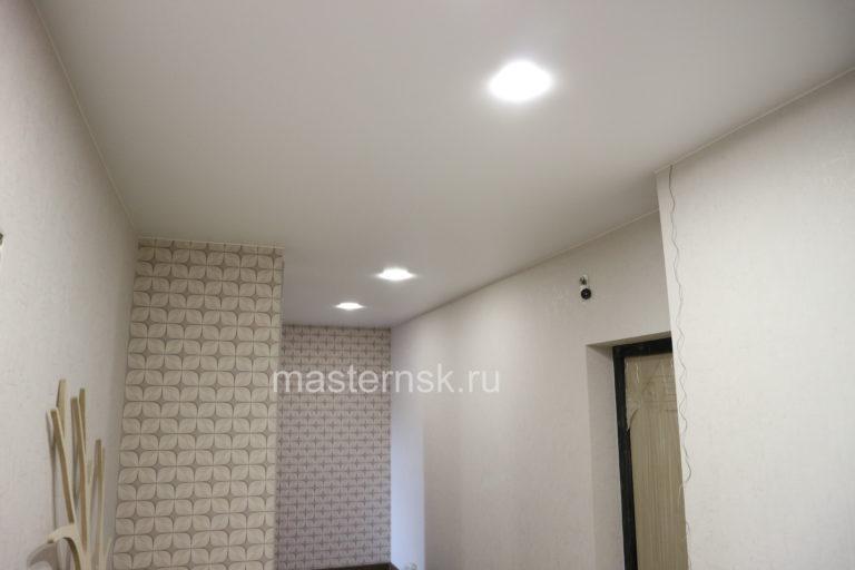 268 Матовый белый натяжной потолок в коридор Новосибирск
