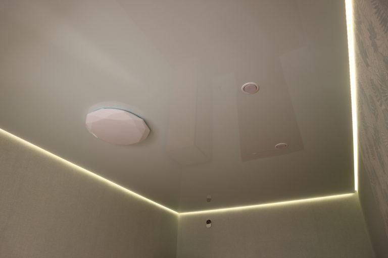 110 Глянцевый бежевый парящий потолок в комнату