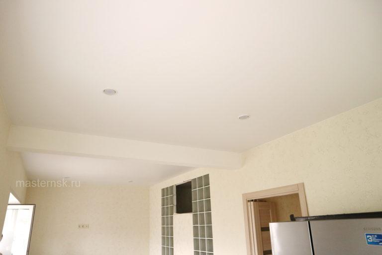 165 Матовый натяжной белый потолок в зал