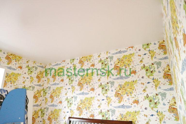 164 Матовый белый натяжной потолок в детскую