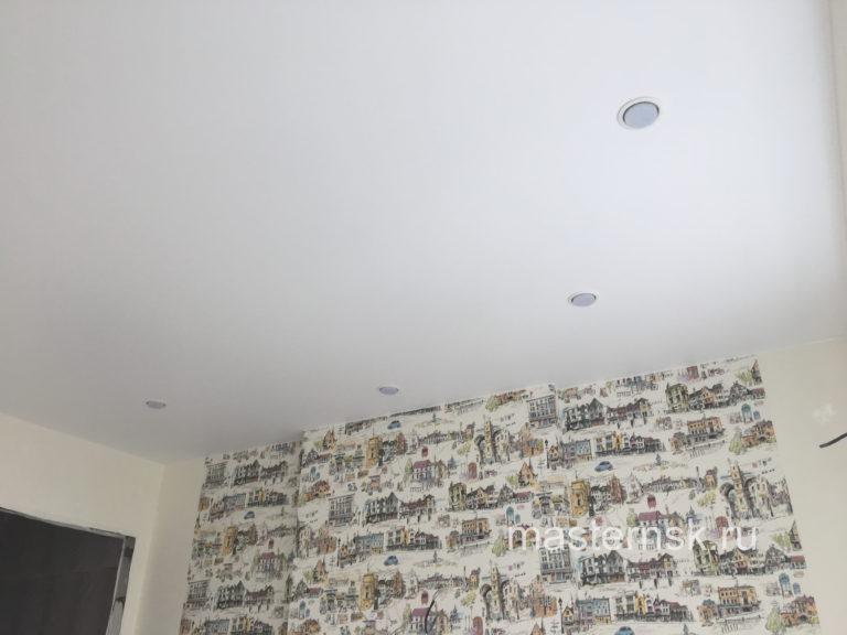 211 Матовый белый натяжной потолок в детскую Новосибирск (2)