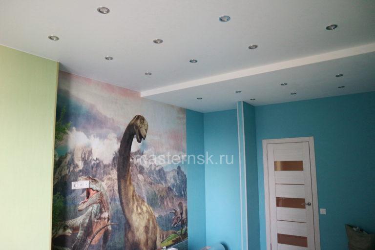 212 Матовый белый натяжной потолок в детскую Новосибирск