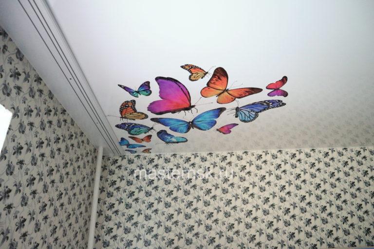 220 Матовый натяжной потолок с фотопечатью в детскую Новосибирск для мальчика