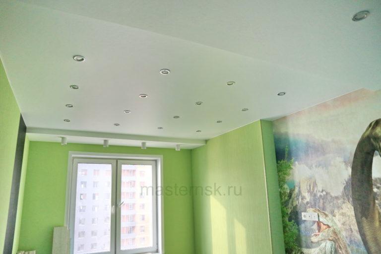 222 Матовый белый натяжной потолок в детскую Новосибирск